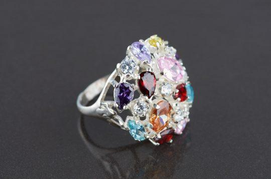 Strieborný prsteň 19003 Benatky