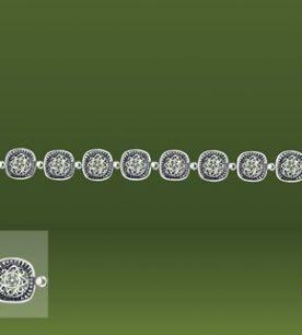 Strieborný náramok – Minca 49021