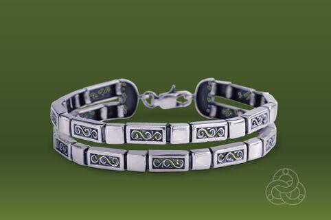 Strieborný náramok – Dvojčatá 49027