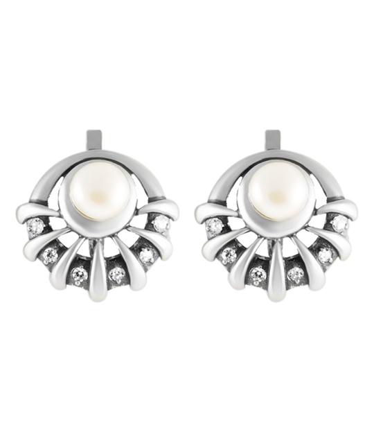 Strieborné náušnice s perlami – Perla