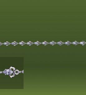 Strieborný náramok – Orgován crystal