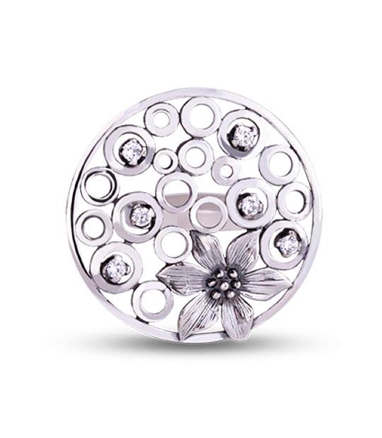 Strieborný prsteň so zirkónom – Jazmín 19001