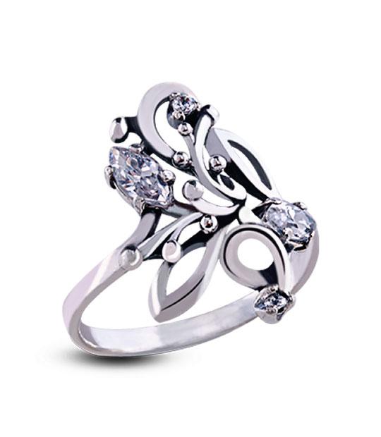 Strieborný prsteň so zirkónom – Orgován crystal 19005