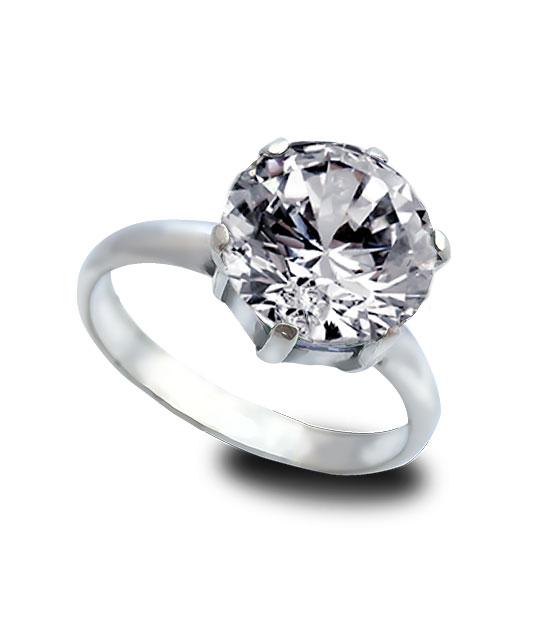 Strieborný prsteň zafír číry