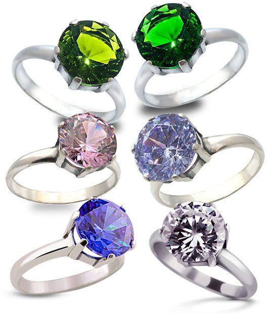 Strieborný prsteň Zafír 19009 skupina