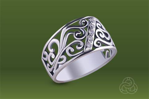 Strieborný prsteň so zirkónom – Medina silver