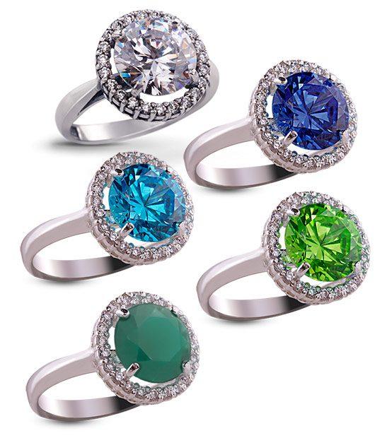 Strieborný prsteň so zirkónom 19018 Malinka okrúhla skupina