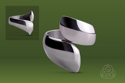 Strieborný prsteň Ulita 19022