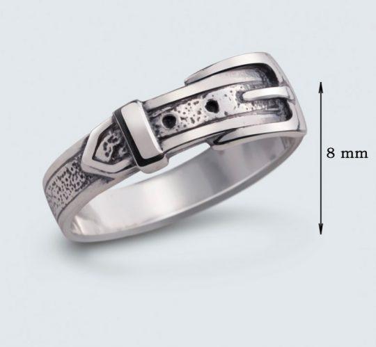 Strieborný prsteň – Remienok 19029