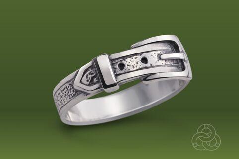 Strieborný prsteň 19029 Remienok