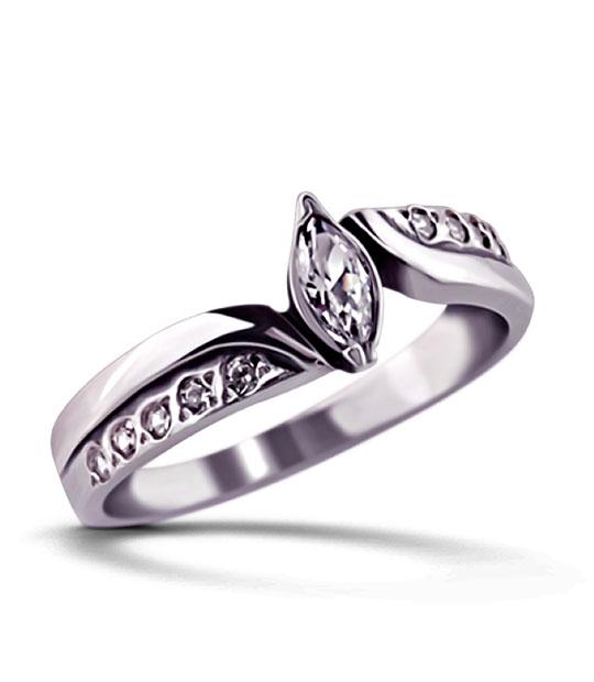 Strieborný prsteň so zirkónmi – Markíza 19031