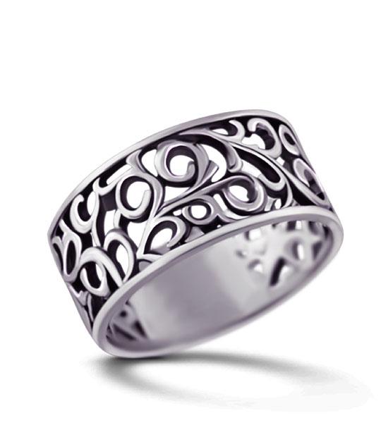 Strieborný prsteň – Kudrlinky