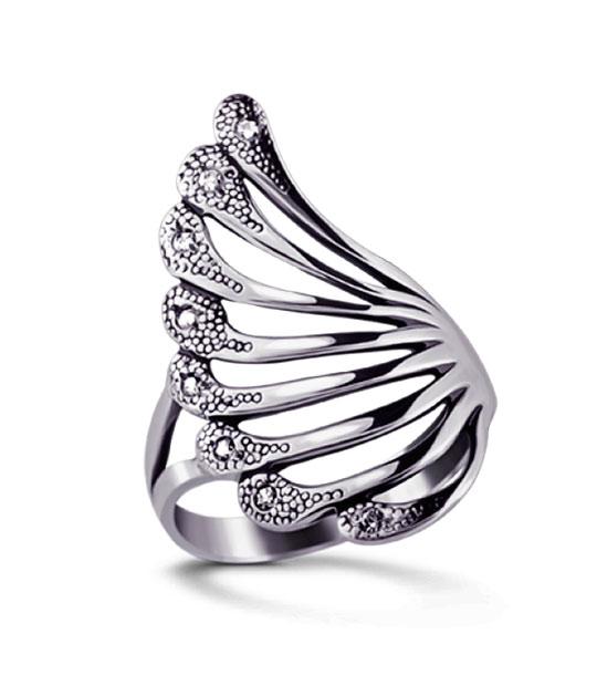 Strieborný prsteň so zirkónmi – Čarovný blues 19053