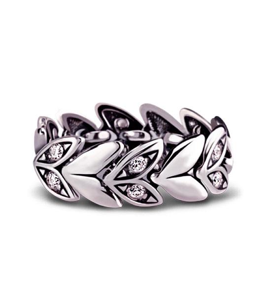 Strieborný prsteň so zirkónmi – Hyacint 19056