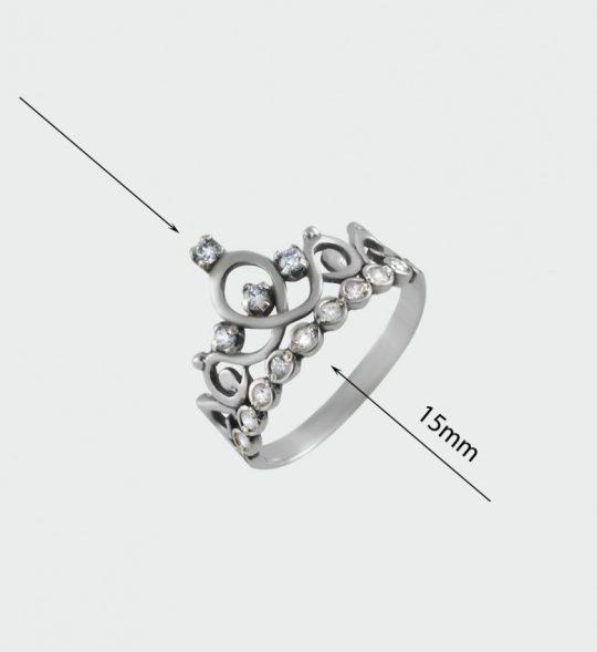 Strieborný prsteň 19064 rozmery