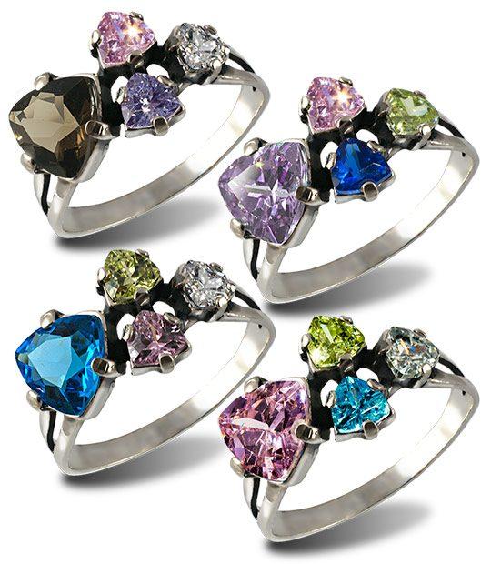 Strieborný prsteň 19091 Trilon skupina