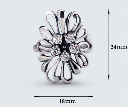 Strieborný prsteň so zirkónom – Astra