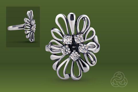 Strieborný prsteň so zirkónom – Astra 19021