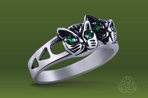 Strieborný prsteň so zirkónmi – Mačiatka 19028
