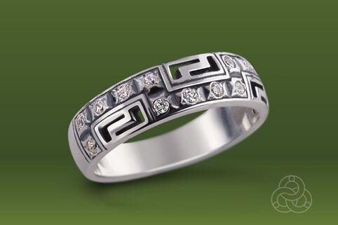 Strieborný prsteň so zirkónmi – Nové Grécko