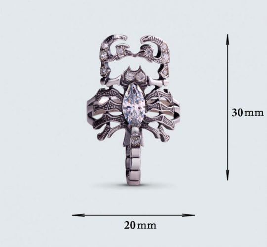 Strieborný prsteň so zirkónmi – 19026