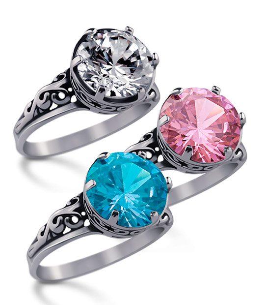 Strieborný prsteň 19057 skupina
