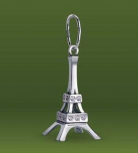 Strieborný prívesok so zirkónmi – Eiffelova veža