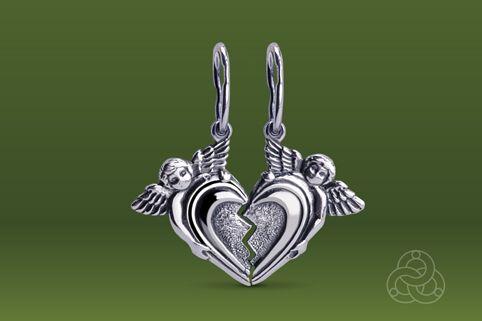 Strieborný prívesok – Valentínka