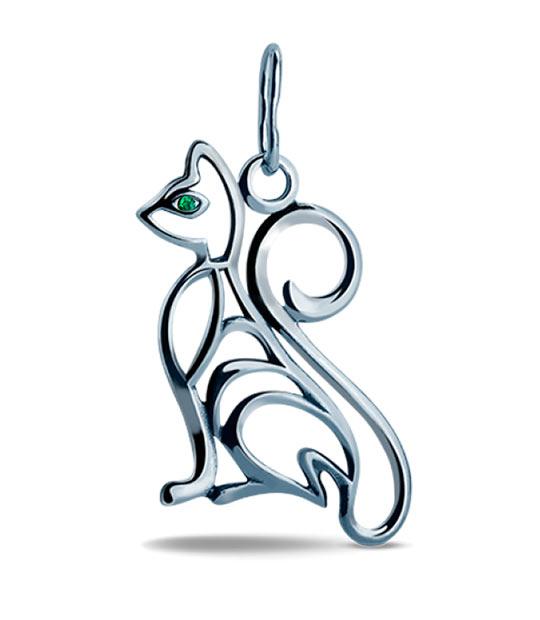 Strieborný prívesok – Mačka 39085