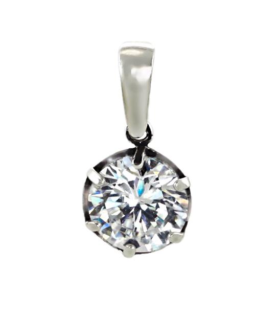Strieborný prívesok so zirkónmi – Ornament číry 39092