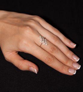 Strieborný prsteň 19082 Jarabinka