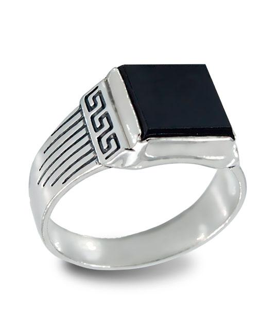 Strieborný prsteň so zirkónmi – Pečať Rím 19089