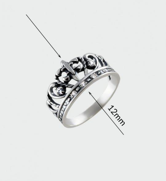 Strieborný prsteň so zirkónmi – Koróna Lekno