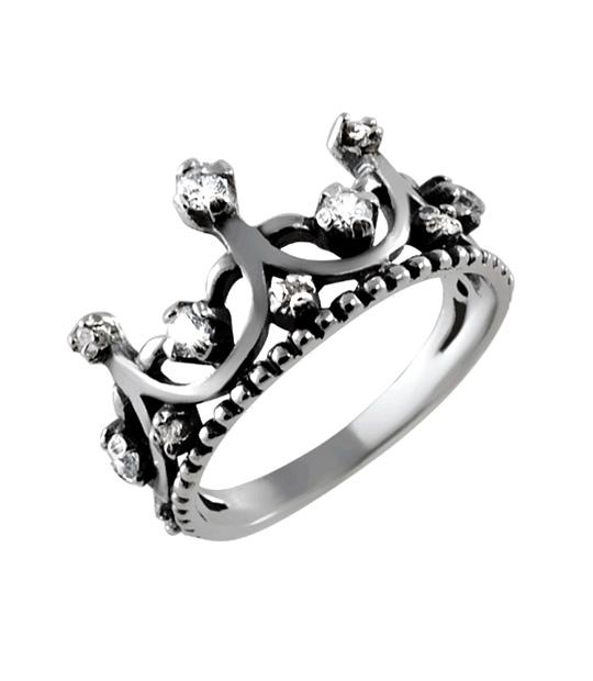 Strieborný prsteň so zirkónmi – Koruna Anna 19066