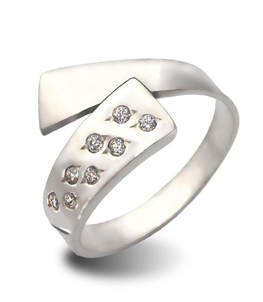 Strieborný prsteň 19070