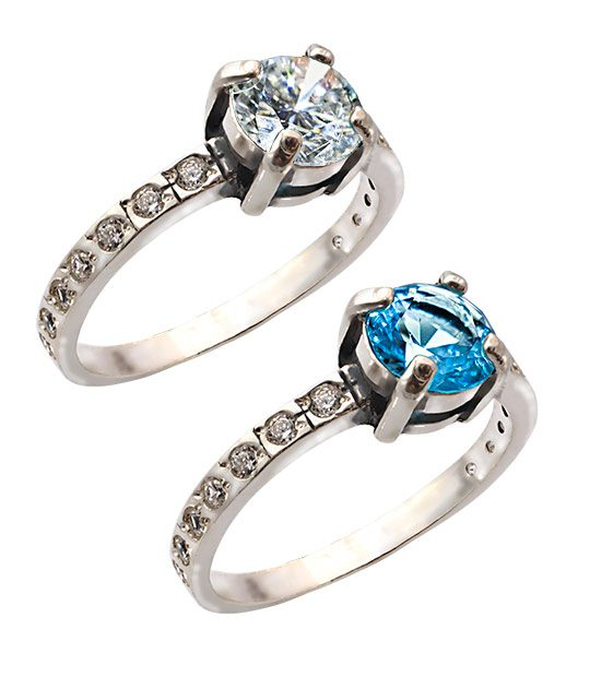 Strieborný prsteň so zirkónmi – Berta 19077 skupina