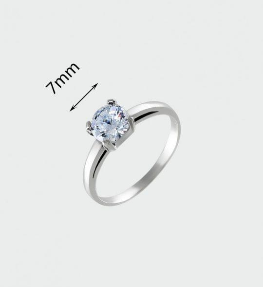Strieborný prsteň so zirkónmi – Rada crystal 19078