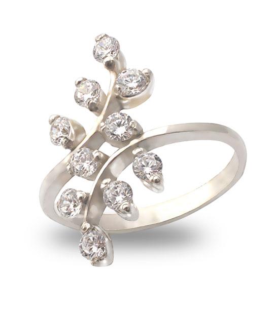 Strieborný prsteň so zirkónmi – Jarabinka 19082