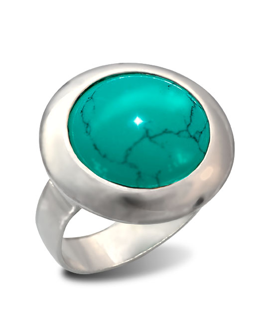 Strieborný prsteň Illa 19086 tyrkysová