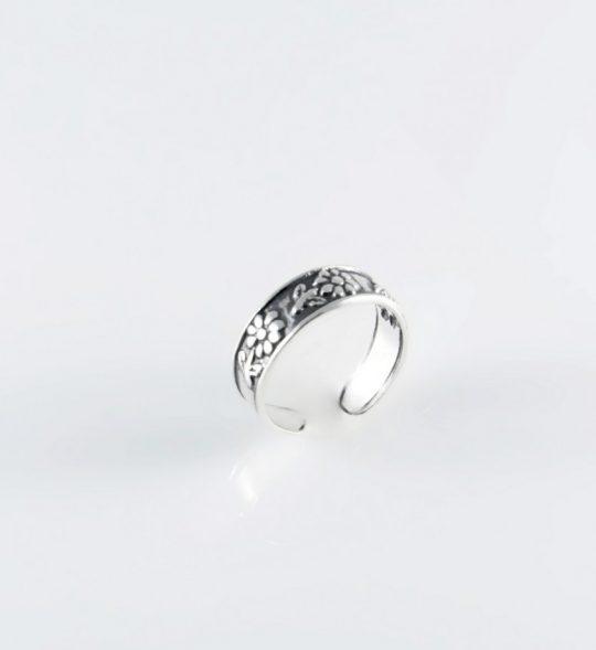 Strieborný prsteň – Nezábudka