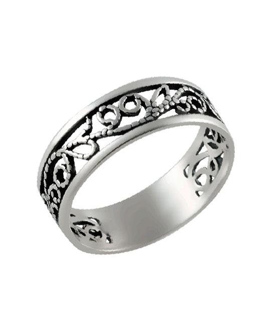 Strieborný prsteň – Filigrán