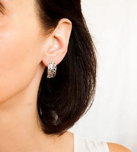 Strieborné náušnice – 29088 ucho