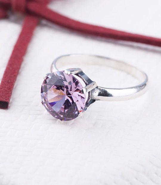 Strieborný prsteň 19009 zafír